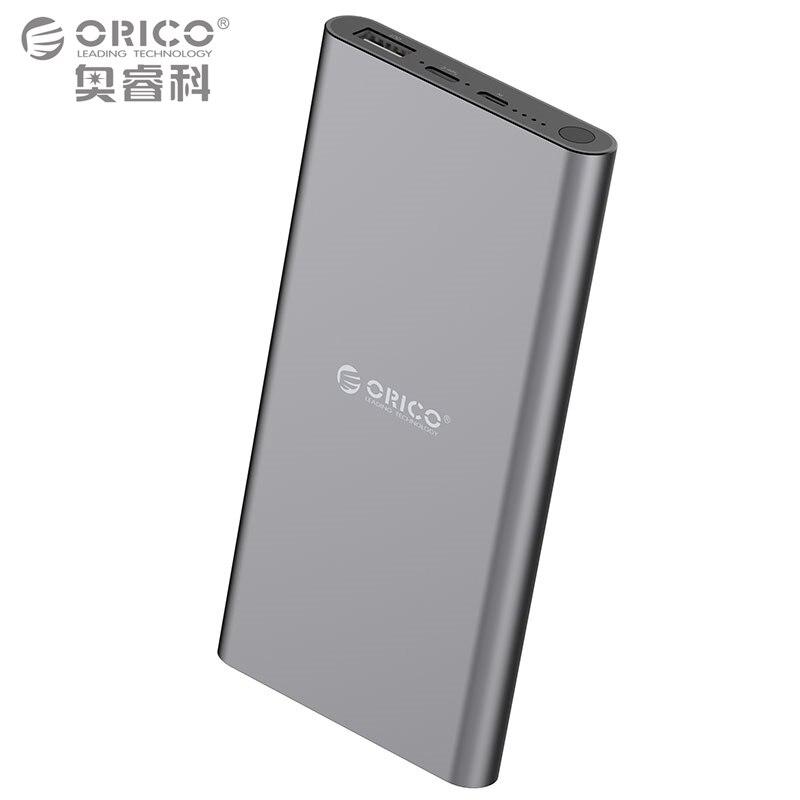 bilder für ORICO USB-C Typ C 10000 mAh Tragbare Externe Batterie/Tragbares Ladegerät/Energienbank für iPhone, iPad, Samsung & mehr (T1-V1-BK)