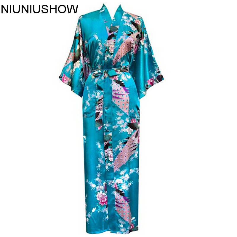 Plus Size S-XXXL Bathrobe With Belt Japanese Geisha Yukata Kimono Women Satin Robe Sexy Sleepwear Flower S02M