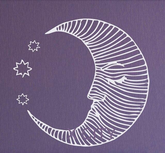 US $6.92 23% di SCONTO|Moon Star Wall Art Decalcomanie In Vinile  Autoadesivo Tagliato Stencil Nursery Per Bambini Camera Da Letto Home Decor  in Moon ...