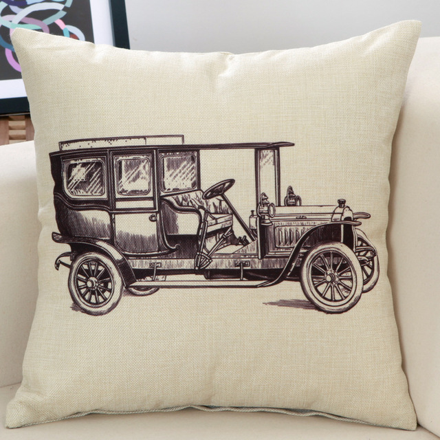 Retro Collection Decorative Cushion Cover – Cotton Linen, 45x45cm