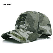 SUOGRY 2018 New Men Pentagram Cap Top Quality U.S. Army Caps Mens Fishing Hat Camo Baseball Hats Bone Adjustable