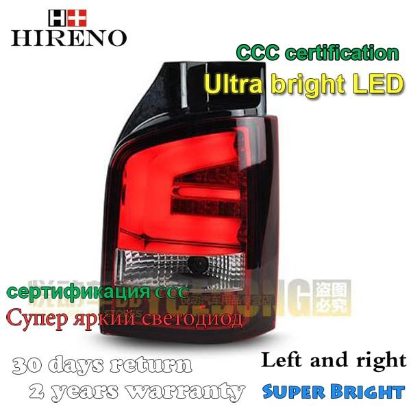 Hireno Tail Lamp for Volkswagen Multivan T5 2010-14 LED Taillight Rear Lamp Parking Brake Turn Signal Lights