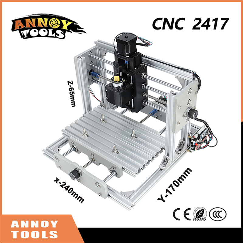 CNC2417 diy cnc engraving machine 0.5w-5.5w mini Pcb Pvc Milling Machine, Metal Wood Carving machine, cnc router, GRBL control cnc 5axis a aixs rotary axis t chuck type for cnc router cnc milling machine best quality