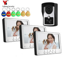 Wholesale Yobang Security IR Night Vision Entry Intercom System 7 Inch Video Door Phone Waterproof Camera Max support 200pcs RFID Keyfobs