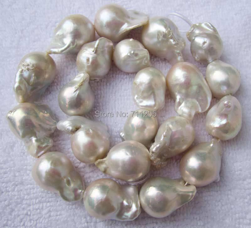 18-25mm naturel Baroque blanc perle d'eau douce perles en vrac 16