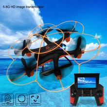 New mini drone Wltoy Q383 2.4Ghz 5.8G FPV RC Quadcopter Drone with Camera 2MP Monitor Display RC helicopter