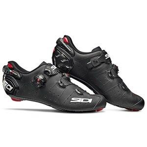 Image 2 - 2020 Sidi 와이어 2 도로 잠금 신발 신발 환기 탄소 도로 신발 사이클링 신발 자전거 신발