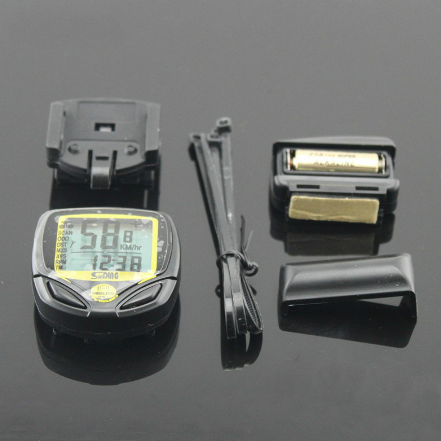 цена 2017 New Arrival Waterproof Wireless Stopwatch Bicycle Cycling Bike Computer Speedometer Odometer Meter Bicycle Computer