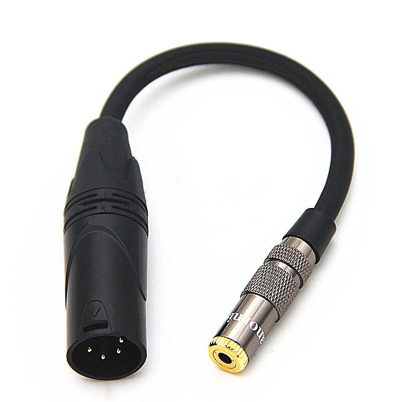 HIFI Мужской 4 контактный XLR баланс до 3,5 мм 2,5 мм 6,35 мм 4,4 мм Женский аудио кабель DAC Stage 4 ядра XLR кабель адаптера для наушников