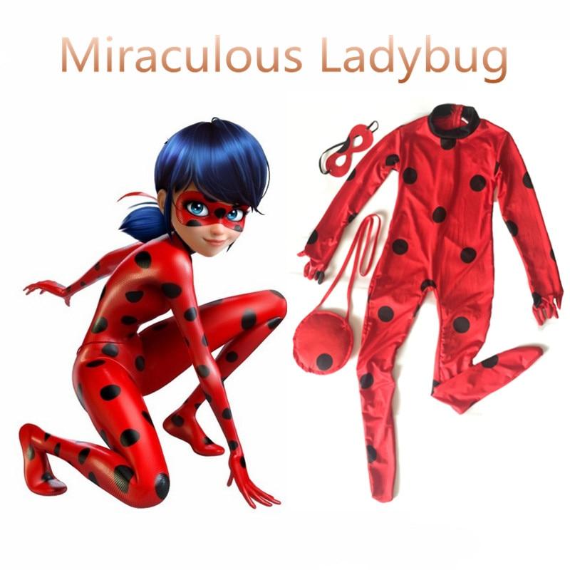 girls kids miraculous ladybug cosplay costume with mask. Black Bedroom Furniture Sets. Home Design Ideas