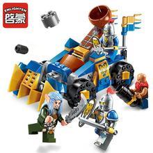 152pcs Enlighten 2304 Building Block War of Glory Castle Knights Trebuchet 4 Figures Model Sets Bricks Toy Boy Christmas Gifts