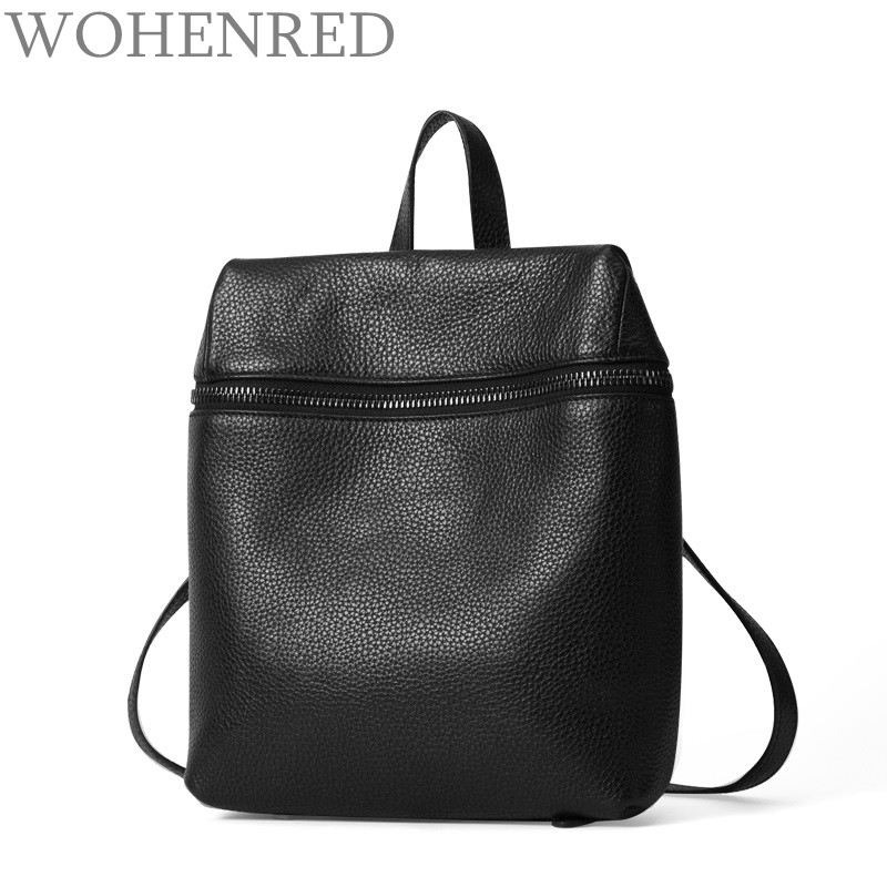 100% Genuine Leather Bag Women Backpack High Quality Daily Casual Daypacks Backpacks Famous Designer Brand School Bags For Girls new brand high quality genuine leather women backpack female vintage backpacks casual bags fashion girls school bag bolsas