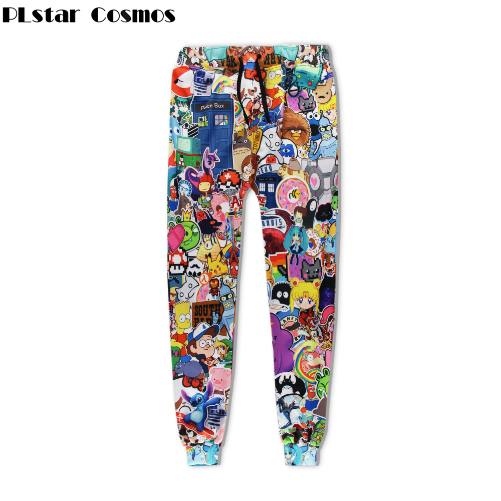 PLstar Cosmos Free Shipping 2017 Fashion Men Women Brand Trousers Cartoon Funny Cartoon 3d Print Unisex Hip Hop Casual Pants