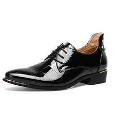 Mens Pointed Toe Red Formal Shoes