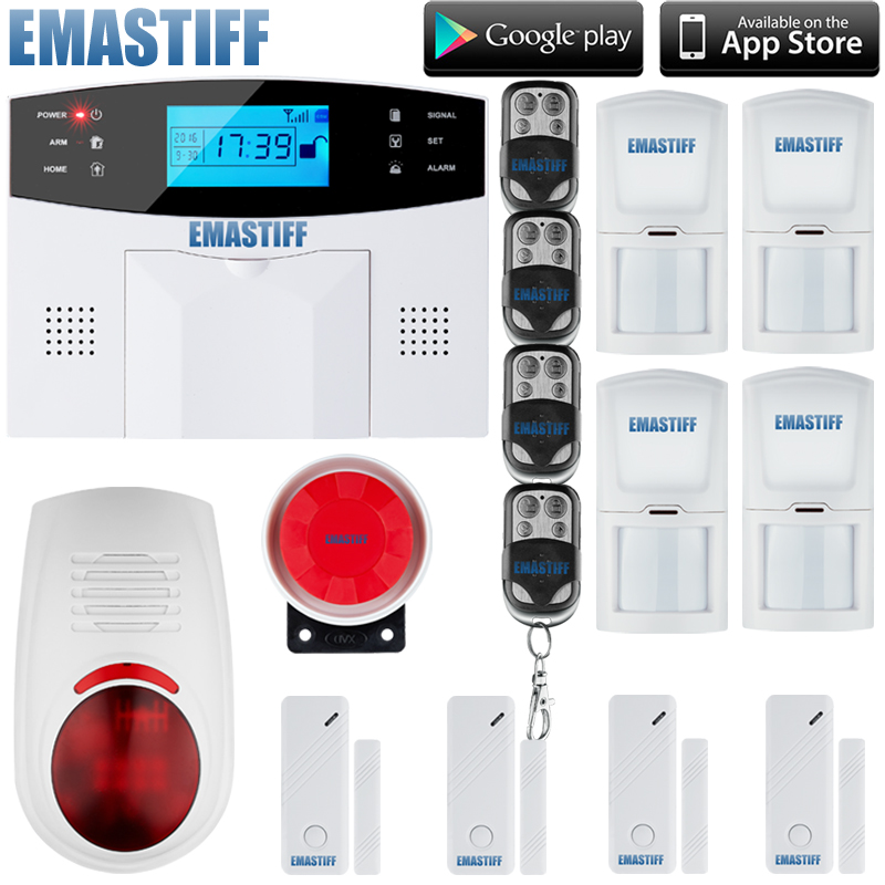 Wireless GSM Alarm system Home security Alarm systems with LCD Keyboard Sensor alarm+w outdoor flash siren yobangsecurity home gsm pstn alarm system 433mhz voice prompt lcd keyboard wireless alarma gsm with outdoor siren flash