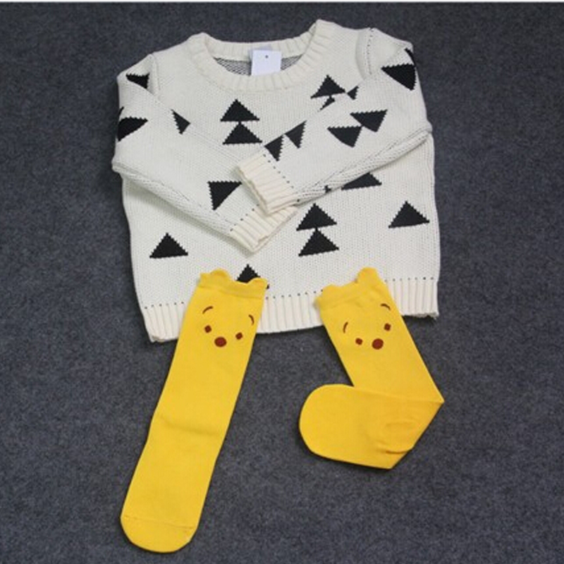 2018 New KIDS Boy Girls Sweater Thick Triangle Vintage Sweaters Bobo Style Baby Girls Clothes Jumper Spring Autumn Kids Costume