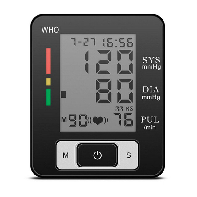 Digital LCD Wrist Blood Pressure Monitor Heart Beat Rate Pulse Meter Measure BP103