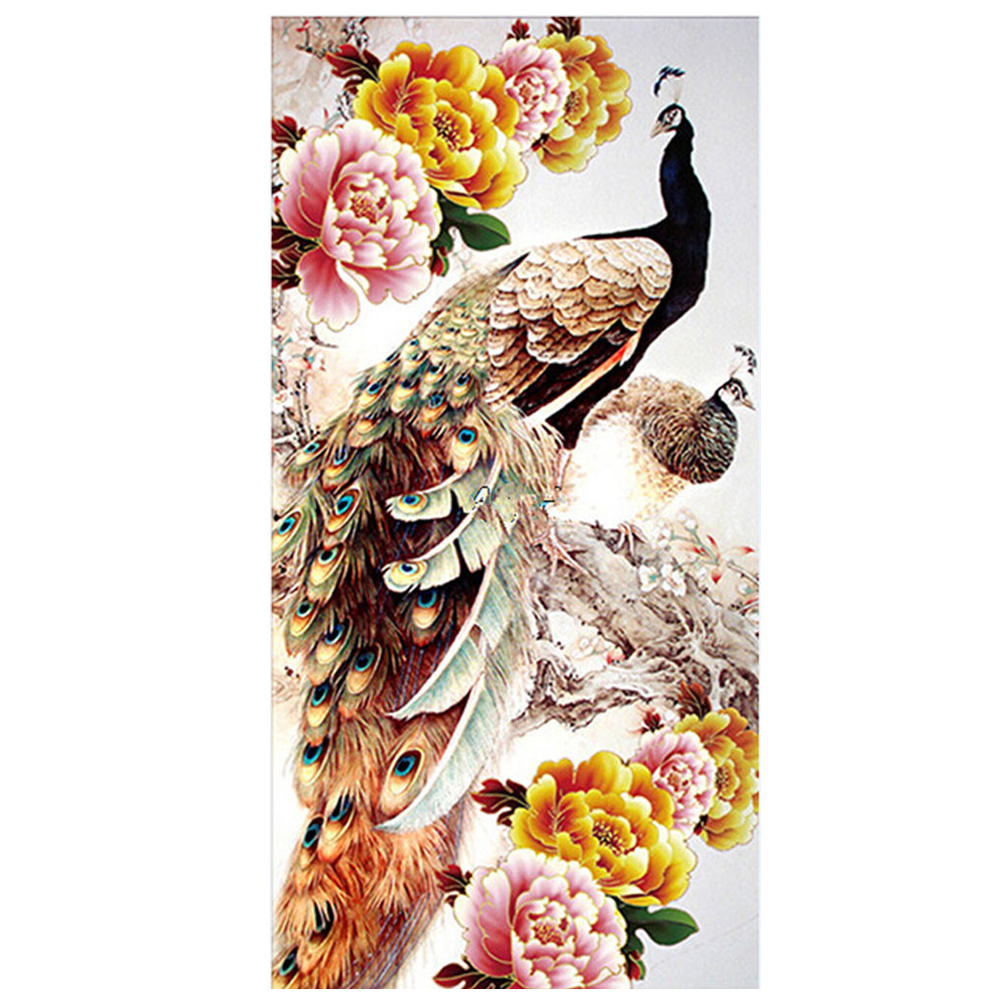 Hot DIY 5D Diamond Embroidery Painting Cross Stitch Kit Flower Animal Home Decor Peacock