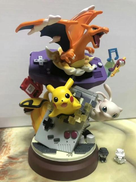 Anime Charizard Mew PVC Action Figure Toy 185mm Game Charizard Mewtwo Diorama Figurine Collectible Toys Gift