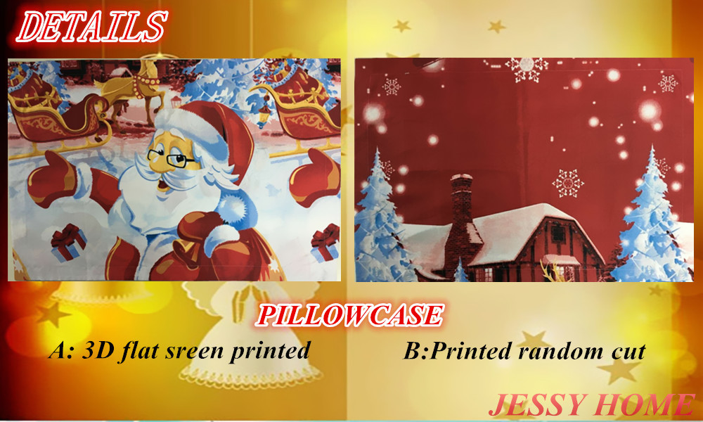 2016 Christmas Merry kids duvet comforter cover twin queen king size 4pc Santa Claus Deer bed set bed linen bedclothes Bedding Set (6)