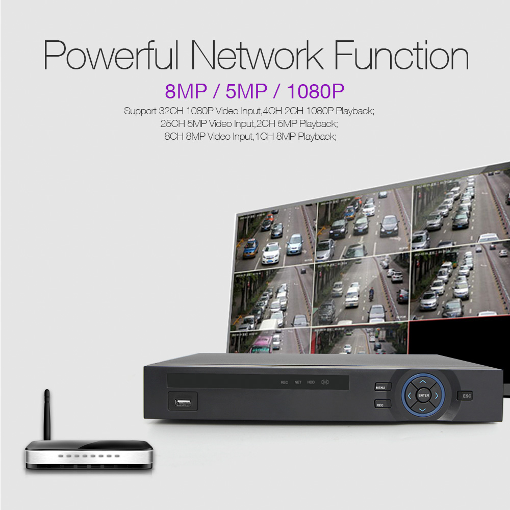 Image 2 - H.265 CCTV NVR 32CH 1080P / 25Ch 5MP / 8Ch 8MP NVR ONVIF P2P Cloud Support 2HDD MAX 8TB 32Ch Security NVR Network Video Recorder-in Surveillance Video Recorder from Security & Protection
