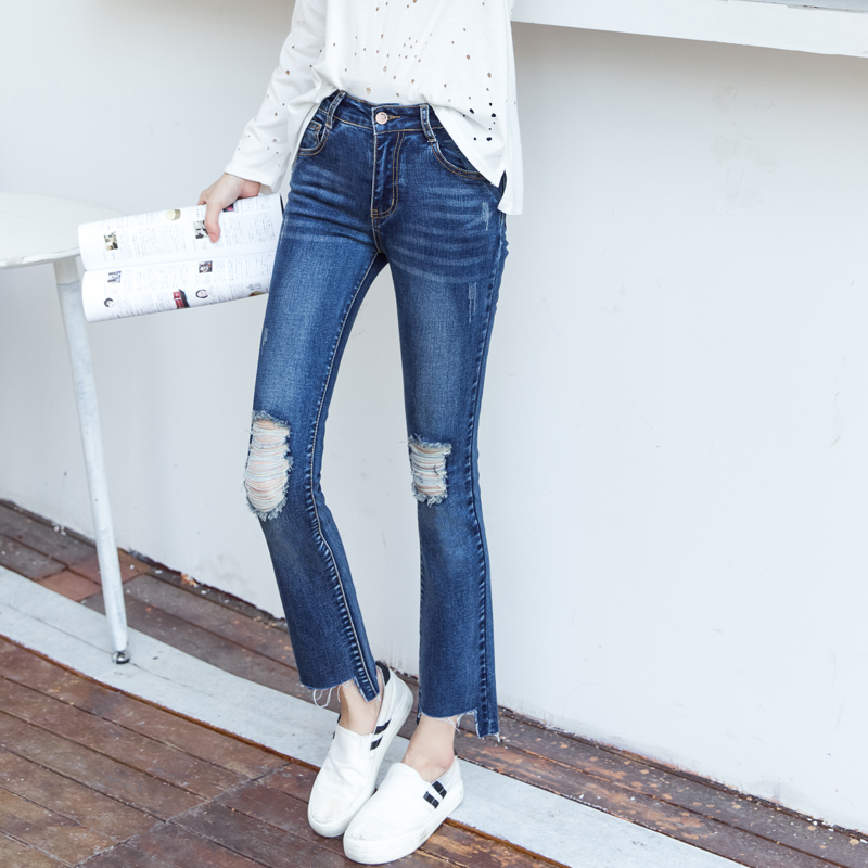 Compare Prices on Solid Ripped Jeans- Online Shopping/Buy Low ...