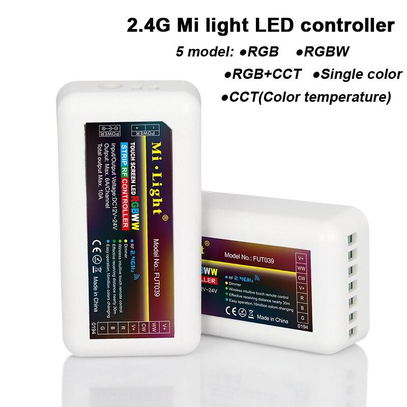 Mi Lumière 2.4G RGB/RGBW/RGB + CCT/couleur Unique/CCT LED Contrôleur pour Led bande Ampoule Spot