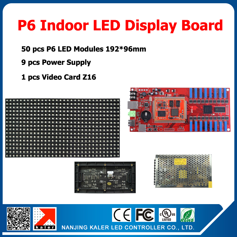 led display full color panel P6 indoor led, 1/8 scan SMD 3in1 RGB 192*96mm led display 50pcs P6 indoor led modules full color