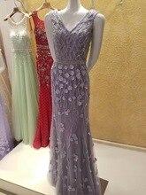 Sexy Meerjungfrau V-ausschnitt Abendkleid 2016 Lange Formale Abendkleider Nach Maß Sommer Dame Mode Dubai Luxus Party Kleider