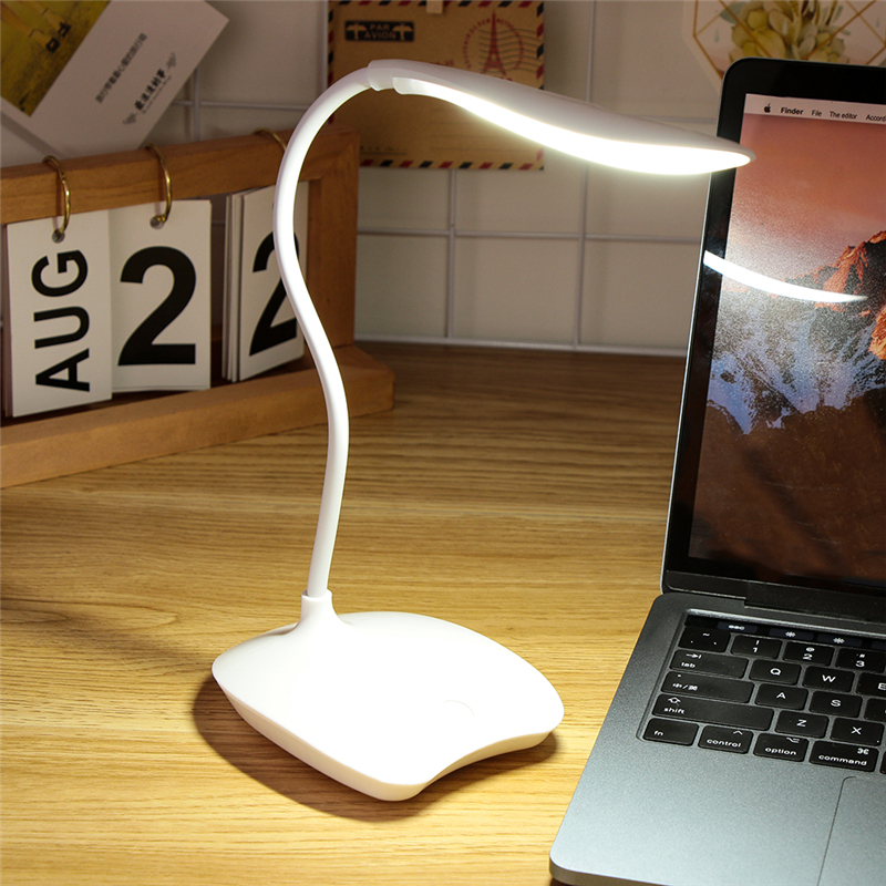 Flexible Dimmable Desk Light 1.5W USB Charging 24 LEDs USB Powered Touch Dimming Table Lamp for Eye Protect Reading