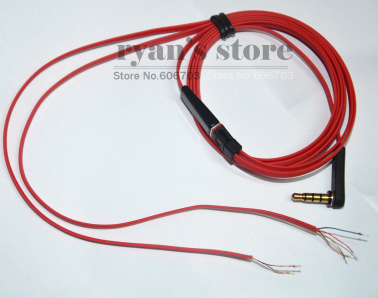 2pcs 35mm Red Replacement Stereo Audio Cable Cord repair
