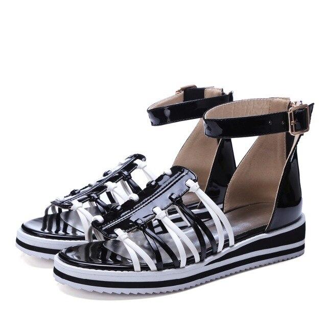 Big Size 11 12 Pu materiaal voor oppervlak Waterdichte Taiwan wortel tas vrouwen sandalen damesschoenen vrouw voor vrouwen platform schoenen