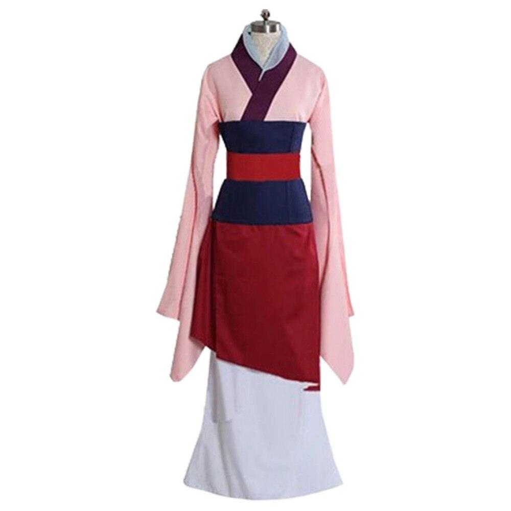 Princess Costume Mulan Cosplay Hanfu Chinese Full Set Dress for Halloween Costume Dress Halloween Carnival Adult Women