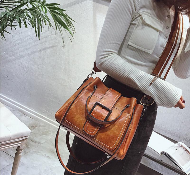 New European and American style vintage PU women handbag shoulder bag messenger bag 91