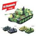 1: 73 14ch mini tanque rc toys controle remoto tanques do exército toys Tigre militar Piscando Brinquedo Do Tanque de Guerra Tanque RC Controlador Remoto!!!