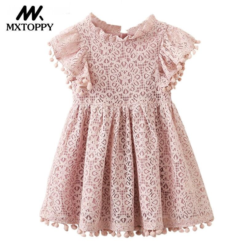 Niñas Ropa de algodón flor vestidos para la niña de encaje princesa ...