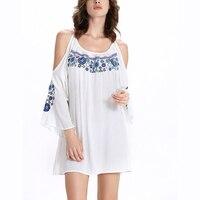 שמלת החוף 2017 קיץ מקרית כתף קרה לבן שמלה קצרה מיני boydcon המפלגה שמלה חדשה הגעה אלין גבירותיי שמלות