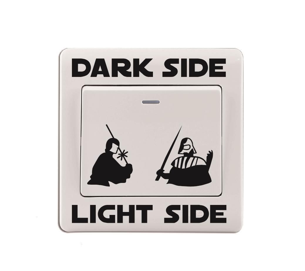 Star Wars, Light Switch Sticker , Darth Vader, Luke Skywalker, Bedroom, Fun  no.2