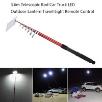 3.6m Telescopic LED Outdoor Lantern Travel Light Can use Remote control light Need to connect to car power