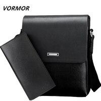 VORMOR Men Bag 2018 Casual Mens Messenger Bags High Quality PU Leather Shoulder Bag Wallet Men