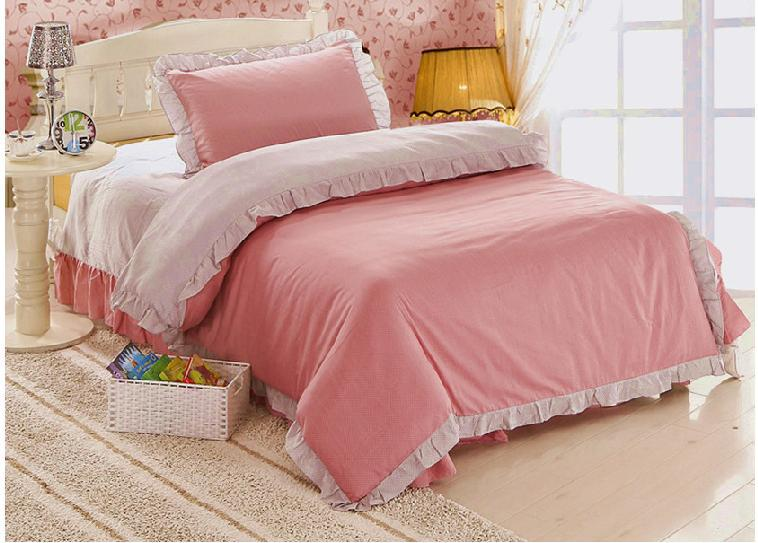 Girls Luxury Bedding: 100% COTTON Twin Children Bedding Sheet Duvet Cover/bed