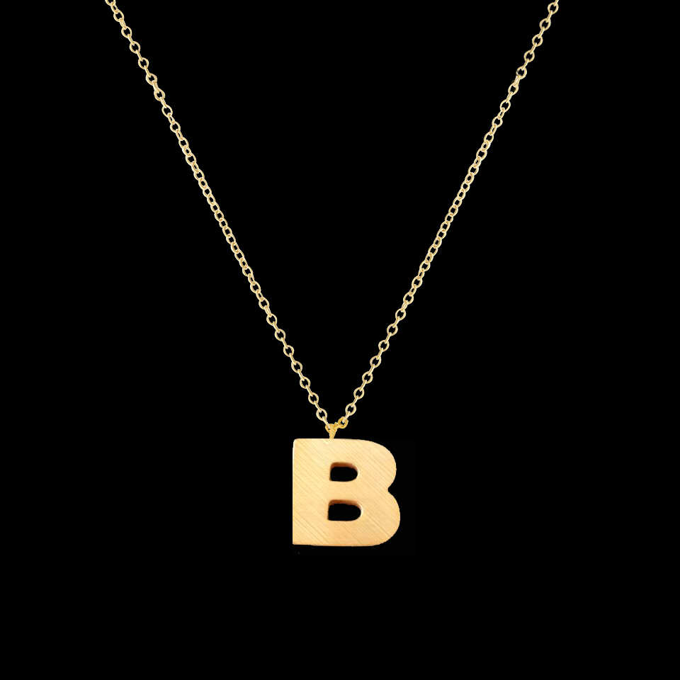 Aliexpress.com : Buy DIANSHANGKAITUOZHE Necklace Letter B Charm Pendant  Necklace For Women Jewelry Gold Silver Chain Bridesmaid Gift BFF From  Reliable ...