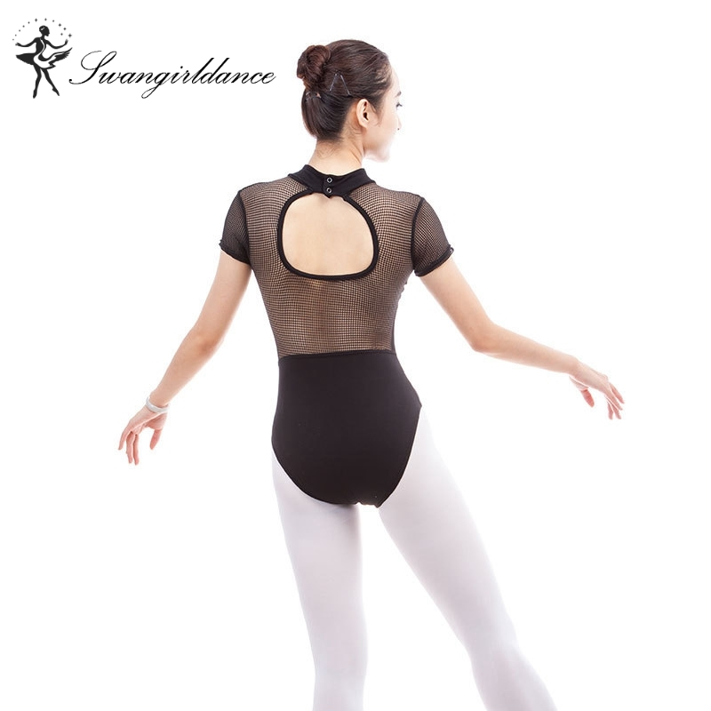 e41bf3197dc2 ladies burgundy mock turtleneck dance training ballet leotards costumes  lace back gymanstic dancwear CS0306-in Ballet from Novelty & Special Use on  ...