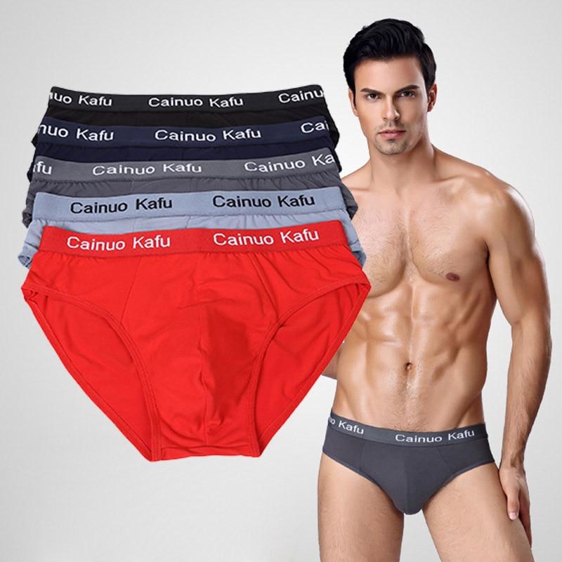 5pcs/lot Men Briefs Comfy Model Sexy Underwear Solid Briefs Factory Men Bikini Underpants Panties Plus L 5XL 6XL (7XL=One Size)-in Briefs from Underwear & Sleepwears