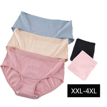 4XL Large Size Honeycomb Antibacterial Cotton Panties for Women Big Size Plus Size Seamless Plump Lady Underwear Lingerie Breifs(China)