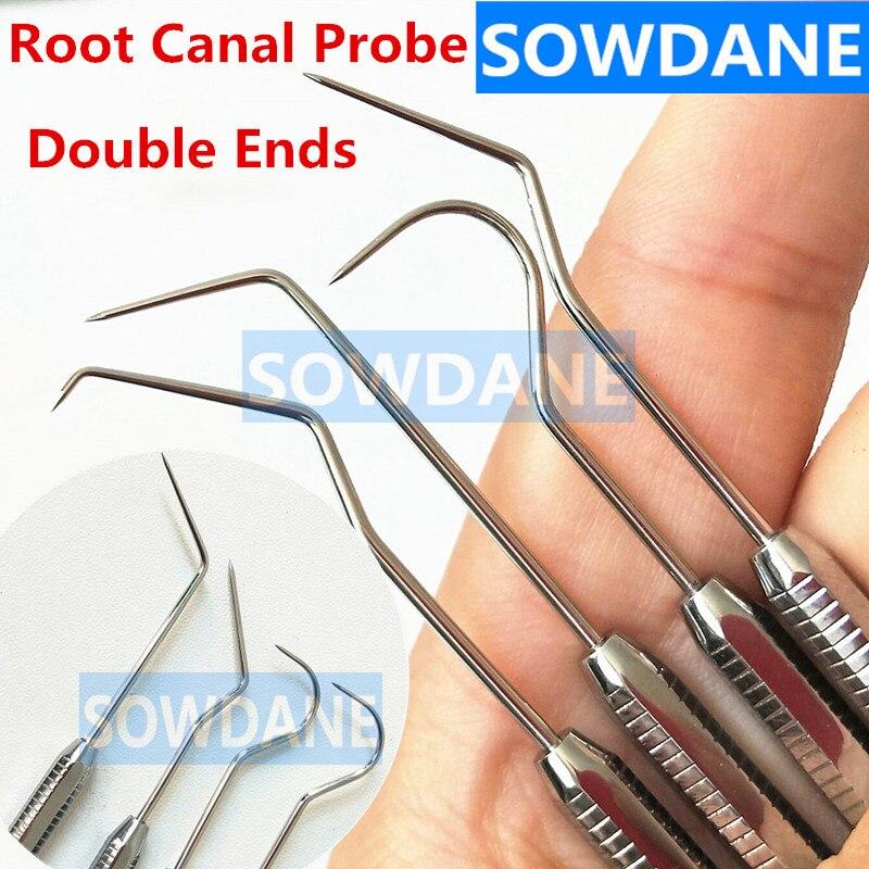 Sonda sonda Periodontal Dental Endodontia com Scaler DG16 Sonda Explorer Do Canal Radicular Instrumento Ferramenta de Aço Inoxidável