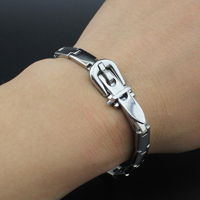 Hapiship 17 New Hot Men/Women Germanium Energy Titanium Stainless Therapy Bracelet Birthday Gift S005 Free Shipping 3