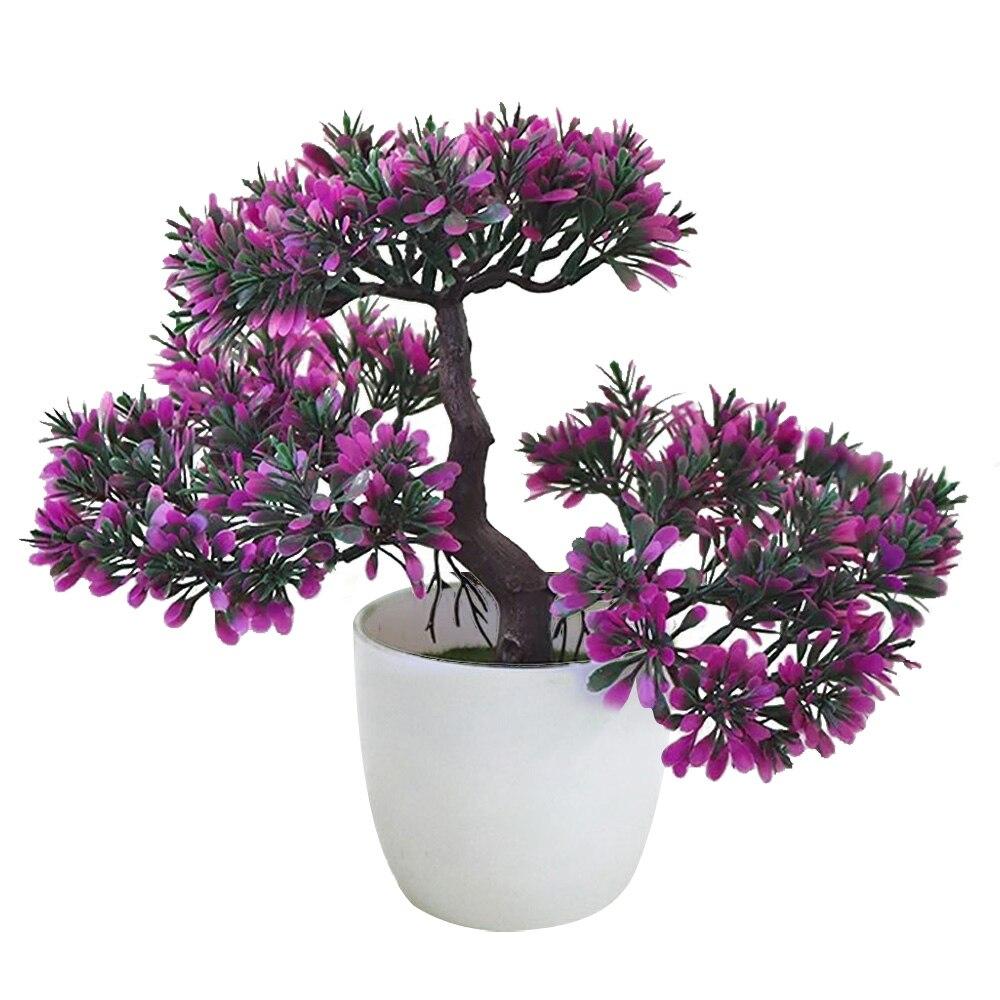 Искусственный бонсаи искусственные растения искусственные деревья растения искусственные растения Украшение домашний декор Мода Красивый балкон Ganoderma Lucidum - Цвет: dark pink