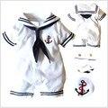 Varejo novo 2013 outono verão vestuário set, Recém-nascido do bebê / bebe menino romper, Esporte terno, Estilo navy roupas cavalheiro