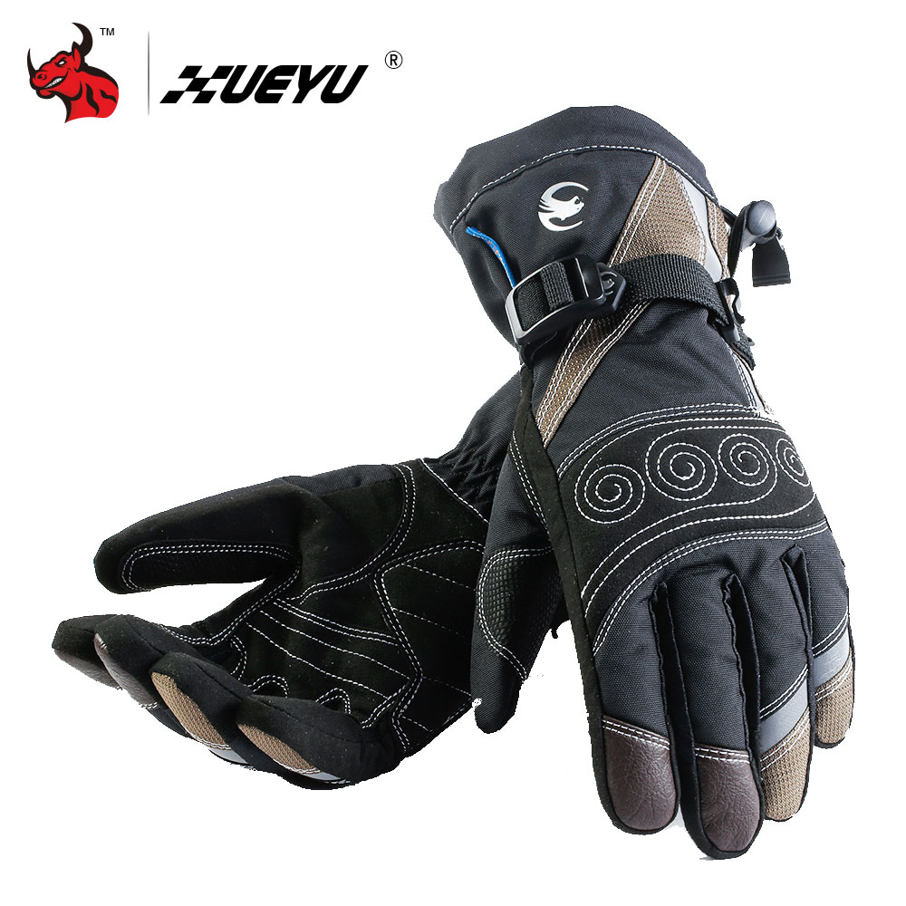 XUEYU Winter Windproof Waterproof Motorcycle Gloves Motorcross Riding Gloves Snowboard Skiing Warm Gloves Luvas Da Motocicleta